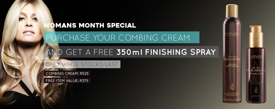 L'anza FREE Lustrous Finishing Spray Promotion