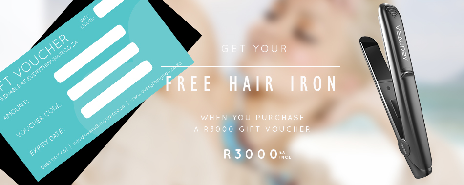 FREE Veaudry Iron when you purchase a gift card of R3000