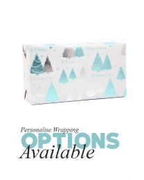 Gift Wrapping - Metallic Blue Silver and White
