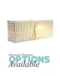 Gift Wrapping - Metallic Gold Striped Paper with tweed