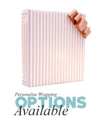 Gift Wrapping - Pink Stripes with Rose Gold Ribbon