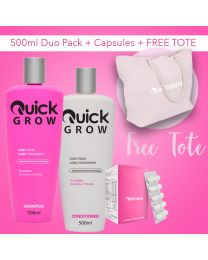 Quick Grow 500ml Combo With Capsules Plus FREE TOTE BAG