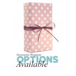 Gift Wrapping - Pink Dots with Purple Tweed