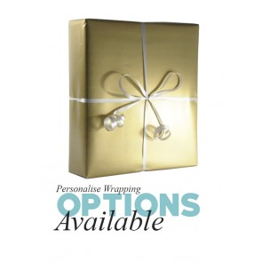 Gift Wrapping - Metallic Gold Paper with white ribbon